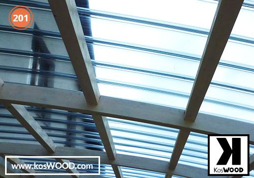 Wiata garażowa  CLASSIC przyścienna (na wymiar), kolor GORI-biały, Fastlock uni - przezroczysty, dach-łuk