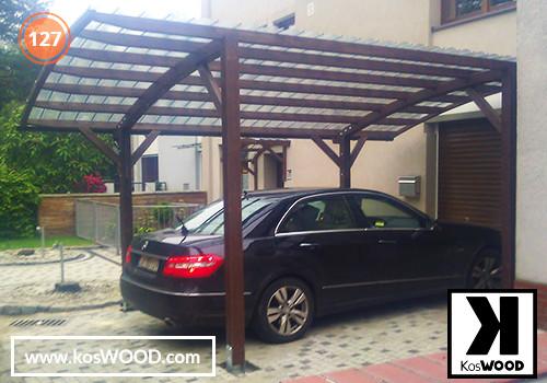 Wiata garażowa PRAGA wolnostojąca (na wymiar), TM 1812, Fastlock uni - przezroczysty, dach-łuk