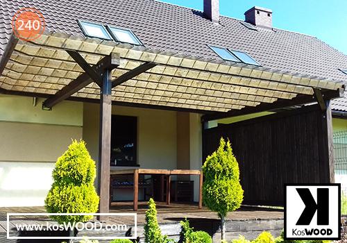 Zadaszenie tarasu PRAGA przyścienna (na wymiar),TM1836, , fastlock - przezroczysty, dach- łprosty