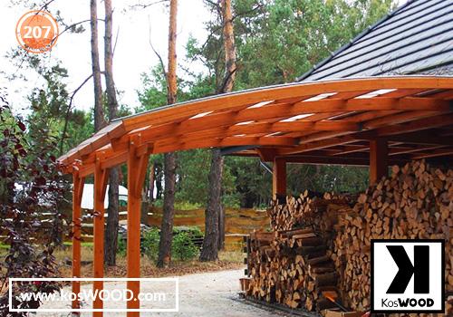 Zadaszenie na drewno