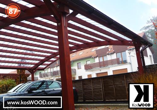 Wiata garażowa  PRAGA wolnostojąca (na wymiar), TM 1810, Fastlock uni - przezroczysty, dach-łuk
