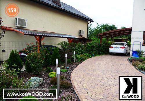 Wiata garażowa  PRAGA przyścienna (na wymiar), TM 1814, Fastlock uni - przezroczysty, dach-łuk