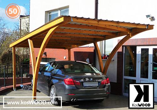 Wiata garażowa VARIANT wolnostojąca (na wymiar), TM 1803, blachodachówka, dach-prosty