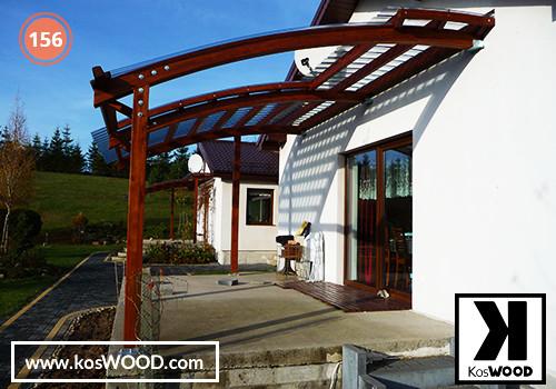 Zadaszenie tarasu PRAGA przyścienna (na wymiar), TM 1809, Fastlock uni - przezroczysty, dach-łuk