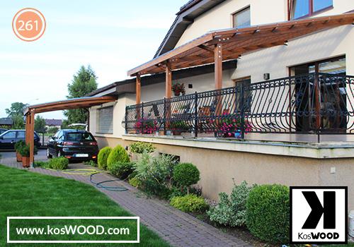 Zadaszenie tarasu PRAGA przyciene (na wymiar) TM1806, fastlock - przezroczysty,dach- prosty | Wiata garażowa PRAGA przycienna (na  wymiar) TM1806, fastlock - przezroczysty,dach- prosty,