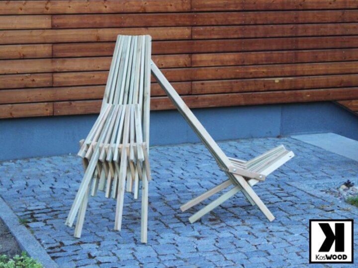 Leżak drewniany