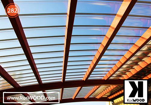 Wiata garażowa PRAGA przyścienna (na wymiar) TM1806, fastlock - przezroczysty, dach- łuk