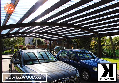 Wiata garażowa PRAGA wolnostojąca (na wymiar) TM1830, fastlock - przezroczysty, dach- łuk
