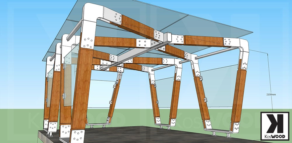 Konstrukcja nowoczesnej wiaty garażowej